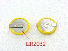 Yeni orijinal 2 adet LIR2032 2032 3.6V lityum marka yeni şarj edilebilir pil