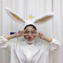 Śliczne dziewczyny kapelusz pluszowy królik Bunny uszy kapelusz nauszniki czapka głowy cieplej zdjęcie dostarcza kapelusz z Earflaps Bunny Hat nakrycia głowy kapelusze