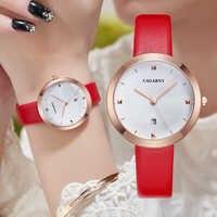 Reloj Mujer Elegante Analog Quarz Frauen Uhren Weiblichen Uhr Datum Wasserdicht Vogue Leder Damen Uhr Tropfen Verschiffen xfcs geschenk