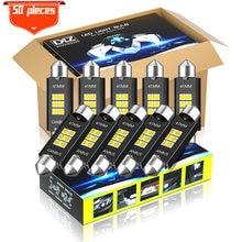 Dxz 50 pces canbus festoon 41mm c5w c10w lâmpadas led 12v/24v 3030 6smd carro interior mapa dome luzes de leitura lâmpada automática nenhum erro