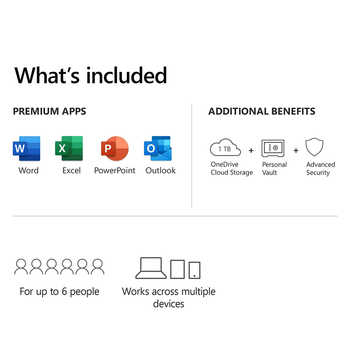 Office 365 Family | 12-Month Subscription, up to 6 people | Premium Office apps | 1TB OneDrive cloud storage | PC/Mac Download