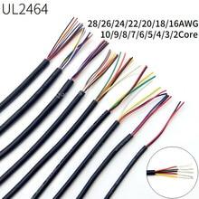 Câble de Signal Audio électronique souple UL2464, 2/5/10M, câble à gaine en cuivre, 28, 26, 24, 22, 20, 18, 16 AWG, 2, 3, 4, 5, 6, 7, 8, 10 cœurs