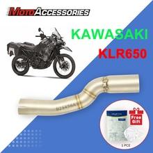 KAWASAKI motocykl wydechowy bliski Link rury Slip On sekcja tłumik dla KAWASAKI KLR650 2008 2009 2010 2011 2012 2013 2014 2015