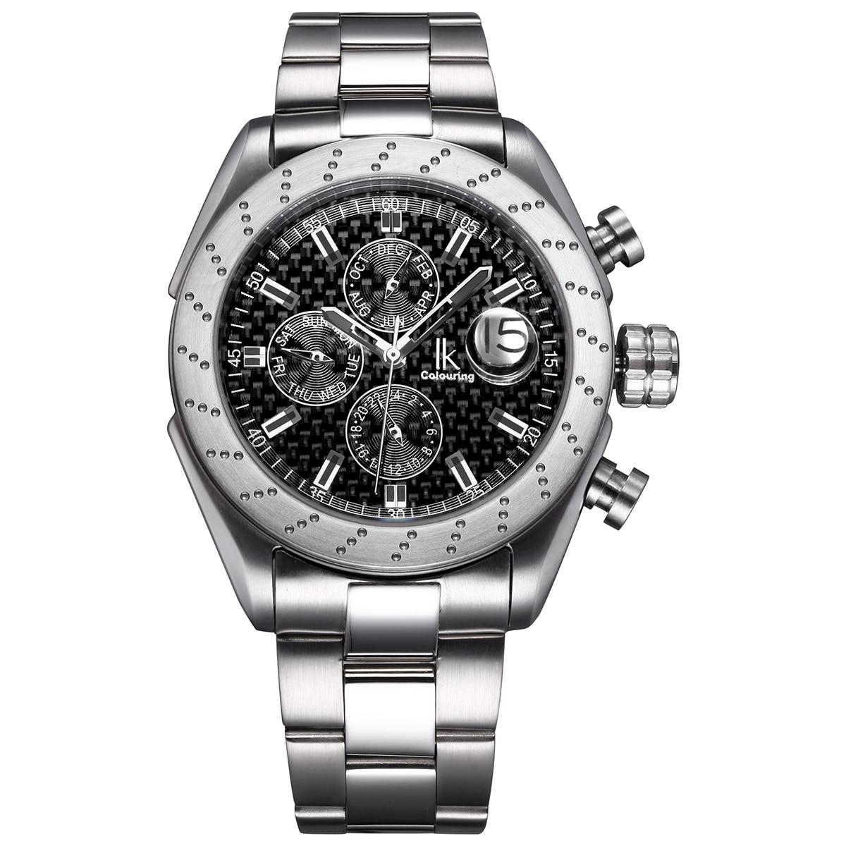 NewLuxury Menself-winding Watch Fashion Casual Stainless Steel Strap Multi-function Sports Waterproof Menwatch Relogio Feminino