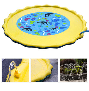 Image 3 - 170cm Inflatable Spray Water Cushion Summer Kids Play Water Mat Lawn Games Pad Sprinkler Play Toys Outdoor Tub Swiming Pool