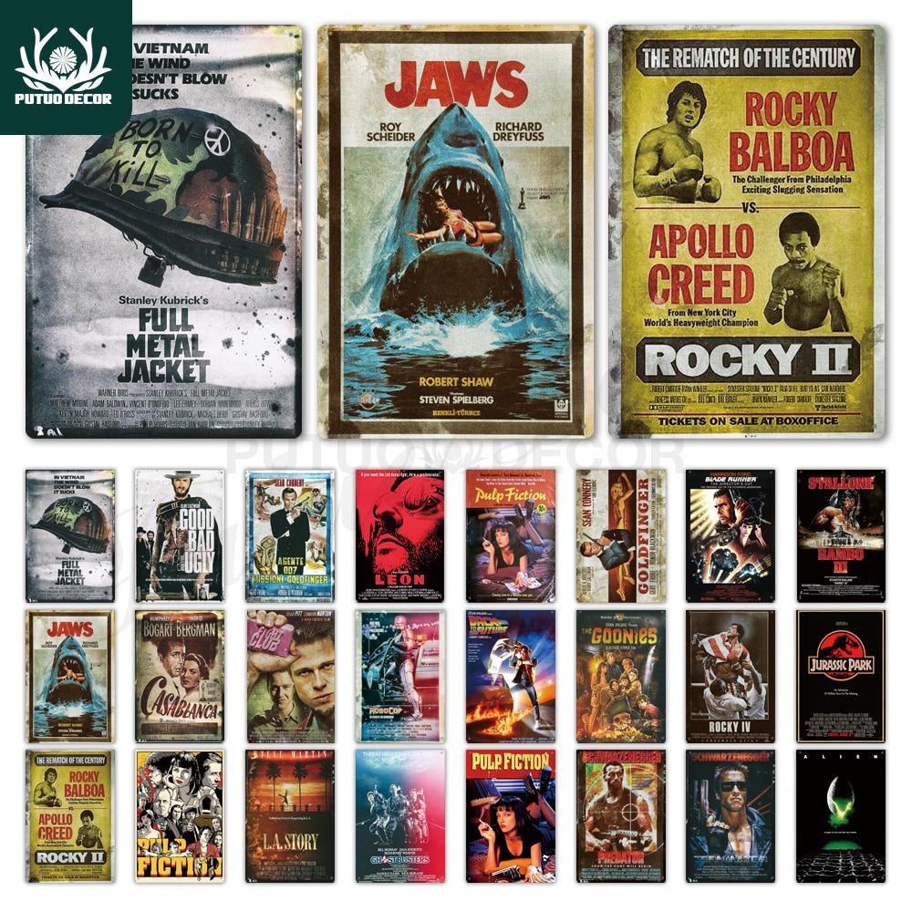 Classic Movie Metal Sign Metal Poster Tin Sign Plaque Metal Vintage Wall Decor for Bar Pub Club Man Cave Metal Signs(20x30cm)(China)