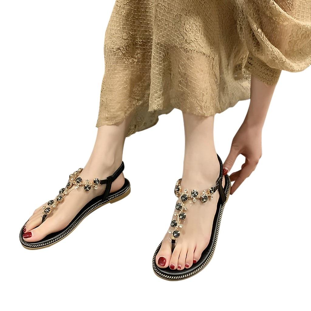 Sandals Women Summer Beach Gladiator Style Rhinestone Beach Sandals New Design