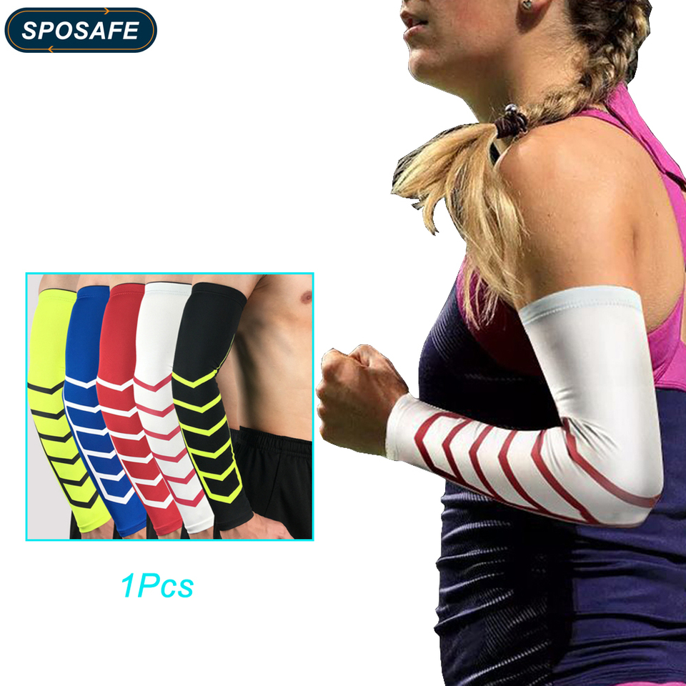 Sposafe 1pc Arm Sleeves Warmers Uv Cooling Sleeves For Men Women Sunblock Tattoo Cover Up Compression Thumb Hole Golf Basketball Arm Warmers Aliexpress