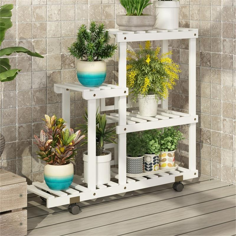 Estante Escalera Decorativa Madera Estanteria Para Plantas Plant Indoor Stojak Na Kwiaty Outdoor Balcony Shelf Flower Stand