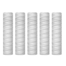 5 Micrometre 10 x 2.5 Inch String Wound Sediment Water Filter Cartridge Whole House Sediment Filtration, Universal Replacement f(China)