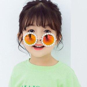 Image 2 - New retro round glasses box pearls B138 baby boomers joker sunglasses wholesale childrens sunglasses