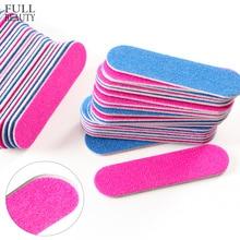 50/100pcs Nail Files Double Side Mini Wood Sanding Buffer Block Set For UV Gel Polish Manicure Pedicure Nail Art Tools CH858