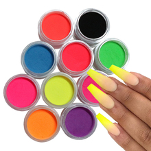 Builder Pigment-Powder Gel-Polish Nail-Accessories Manicure Crystal Neon Professional