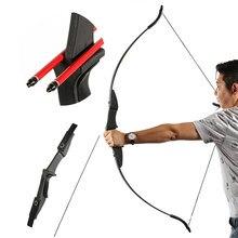TOPARCHERY zdjęty łuk refleksyjny do strzelania z łuku strzelanie gra myśliwska sporty outdoorowe prawa ręka i lewa ręka łuk może wybrać