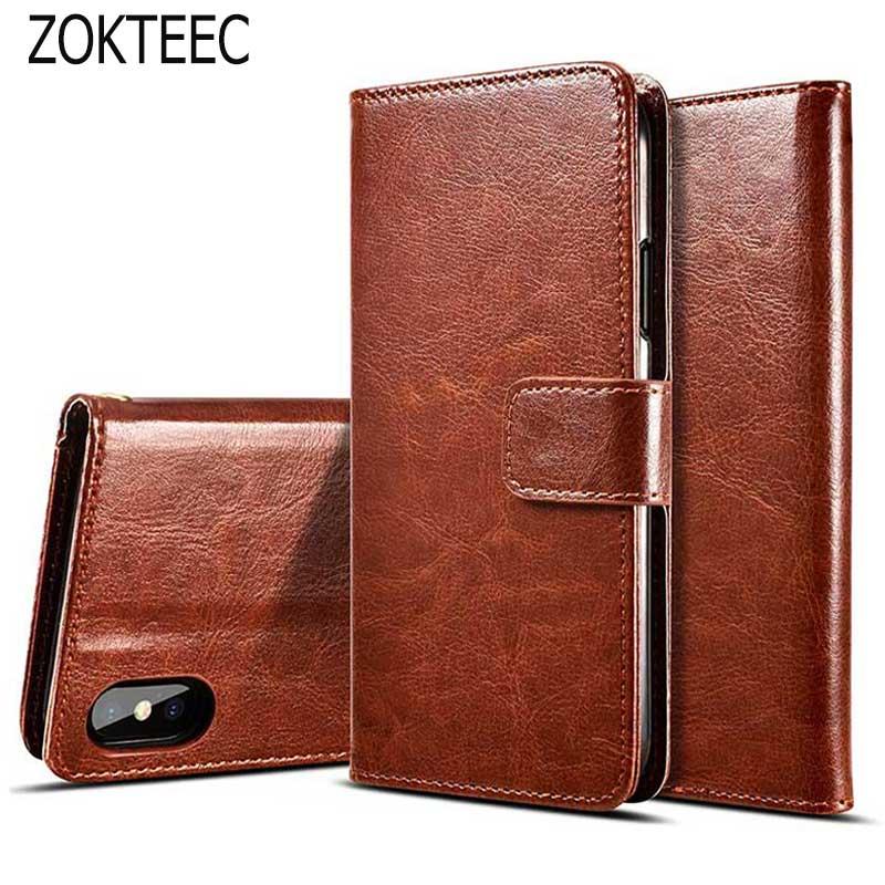ZOKTEEC Coque Wallet Case For ZTE Blade X7 Z7/ZTE D6 V6 Flip PU Leather Phone Cover Z7