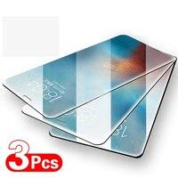 3 pezzi di vetro protettivo a copertura totale per iPhone 12 11 Pro Max X XS XR pellicola in vetro temperato per iPhone 6 6s 7 8 Plus vetro dello schermo