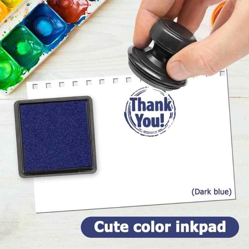 หมึกลายนิ้วมือสแควร์แสตมป์หมึก Pad สำหรับ DIY Scrapbooking การ์ดกระดาษ Craft งานแต่งงานตกแต่งหมึก Pad Creative แสตมป์