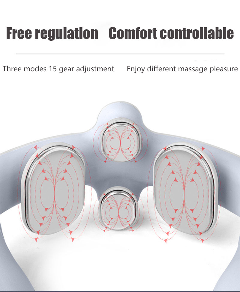 Massager cervical ems pulso inteligente ombro e