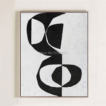 Handpainted Modern Abstract Wall Art Extra Large Black and White Contemporary Thick oil Painting On Canvas black white mural art