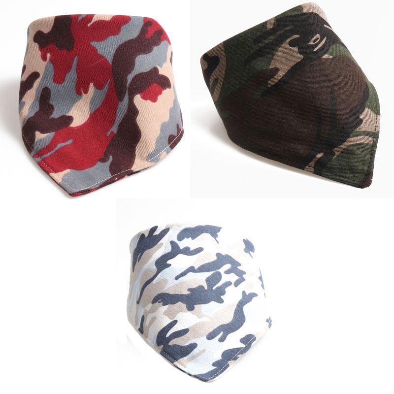 Amin Lattice 2018 New Products Camouflage Bandage Cloth Pet's Saliva Towel Dog Scarf Double Layer Thick Manufacturers Direct Sel