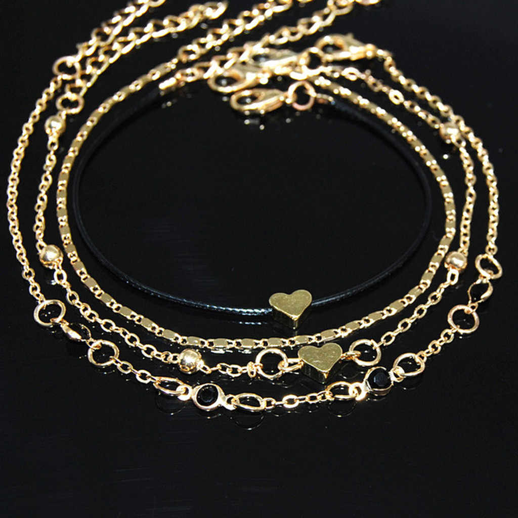 Gold Ankle Bracelet Women Anklet Adjustable Chain Foot Beach Jewelry dropshipping wholesale fast ship enough stock 2020