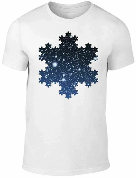 Koch copo de nieve camiseta hombres mujeres divertida física fractales matemáticas Ciencia Nueva Unisex divertida camiseta