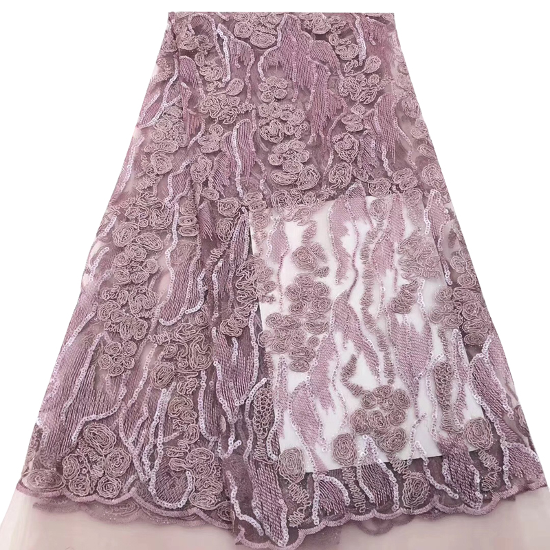 African Lace Fabric Embroidered Nigerian Beaded Laces Fabric.High Quality French Tulle Y565 платье вечернее