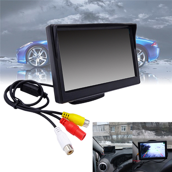 Universal Car Mirror New 5''800*480 2 colors TFT LCD Screen Monitor For Car Rear Rearview Backup Camera Parking Two System sinairyu hd mirror monitor 800 480 high resolution tft lcd rear view mirror screen display for backup camera two video inputs