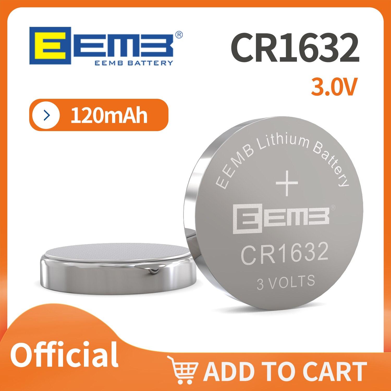Для выведения токсинов, 40 шт EEMB CR1632 пакет 3,0 V 120 мА/ч, литий Li-MnO2 кнопочная ячейка UL1642 UN38.3 не перезаряжаемая от производителя, бесплатная доста...