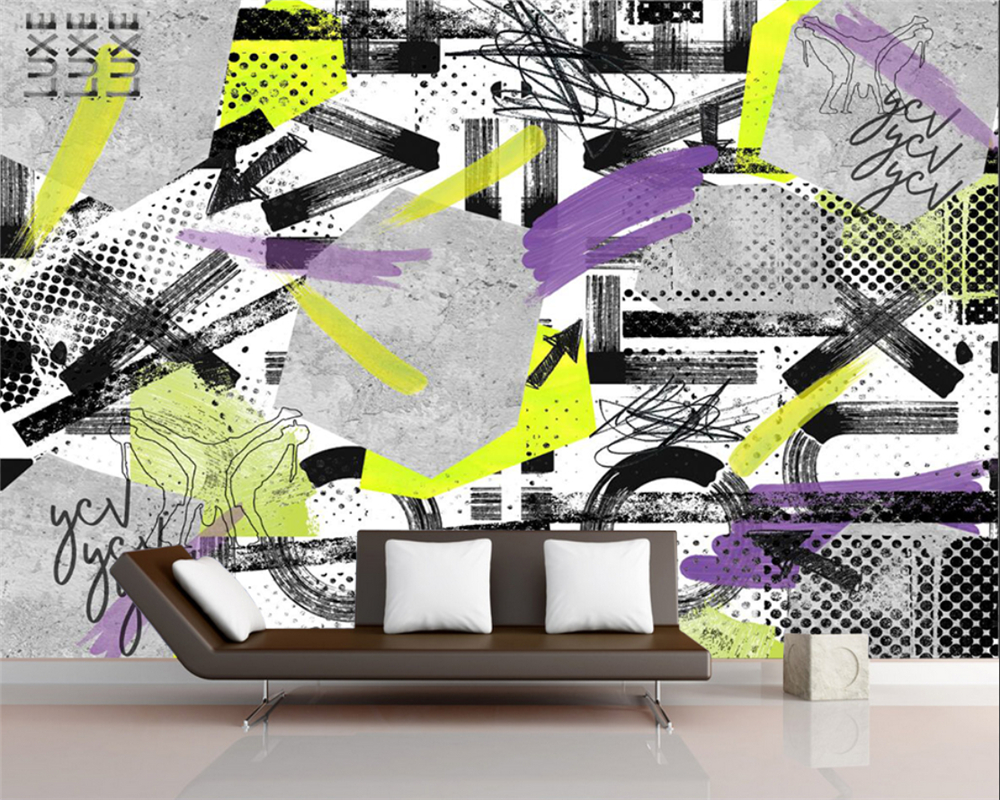 US $8 85 OFF Beibehang Custom Mural Wallpaper Hand Painted Abstract Graffiti Art Background 3d Wallpaper Living Room Bedroom Home