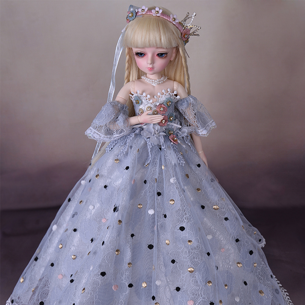 1/4 BJD Doll 45cm Lifelike Fashion Girls Dolls 18 Ball Joints With Full Outfits Royal Dress Shoes Wig Makeup Best Birthday Gifts