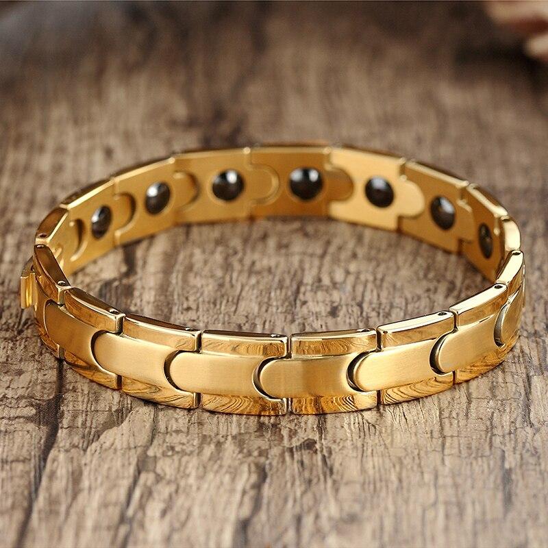 classic Magnetic Hematite Copper Bracelet Men Health Bracelets with Hook Buckle Clasp Therapy Bangles Women Health Care JewelryHologram Bracelets   -