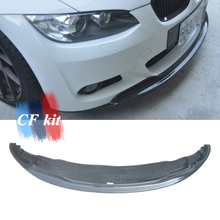 Для стильного настоящего углеродного волокна передний бампер спойлер протектор для BMW 3 серии E92 E93 M-Tech 2005-2009 Автомобильный Стайлинг