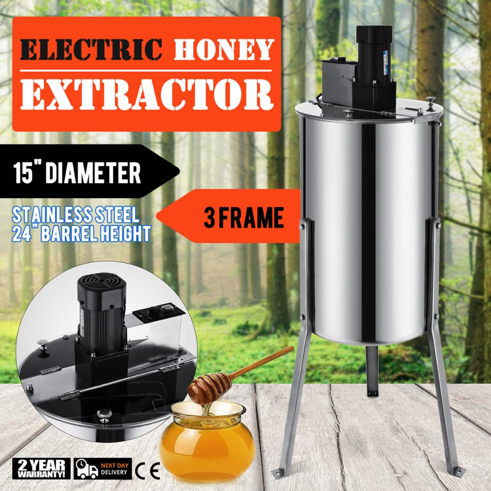 3 Frame 220v Electric Honey Extractor Honeycomb Honey Stainless Beekeeping