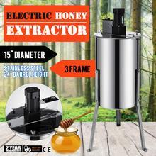 Extracteur de miel 3 cadres, électrique, 220v, nid dabeille en acier inoxydable, apiculture