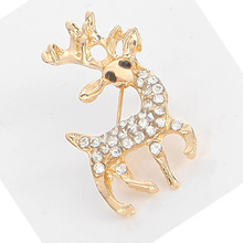 Brooche For Women 2019 New Arrival Rushed Brooches Fashion Accessories With Fine Drill Sika Deer Brooch Is Shining Female Pin