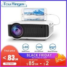 TouYinger T4 mini projektör LED HDMI 1280x720 taşınabilir Beamer USB projeksiyon ev sinema (isteğe bağlı kablolu senkronizasyon ekran için Tablet telefon)