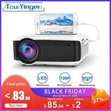 TouYinger T4 mini projektor LED HDMI 1280x720 przenośny rzutnik USB kina domowego (opcjonalnie przewodowy wyświetlacz synchronizacja dla Tablet z funkcją telefonu)