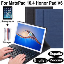 Keyboard Case for huawei matepad 10.4 pro 10.8 5g Honor pad v6 Bluetooth Keyboard Leather flip case Cover