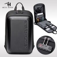 Mochila antirrobo para ordenador portátil para hombre, mochilas escolares a prueba de agua con carga USB, bolso de viaje de negocios para motocicleta