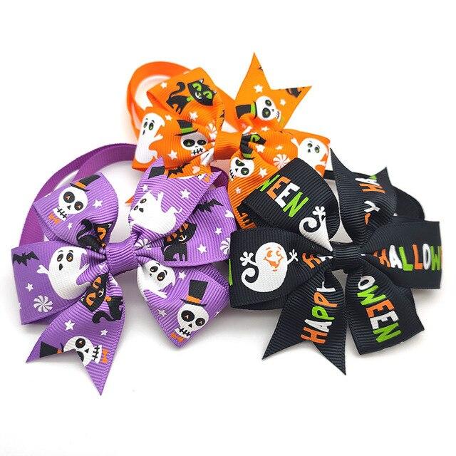 Купить 50/100 шт аксессуары для собак на хэллоуин тыква череп искусственные картинки цена