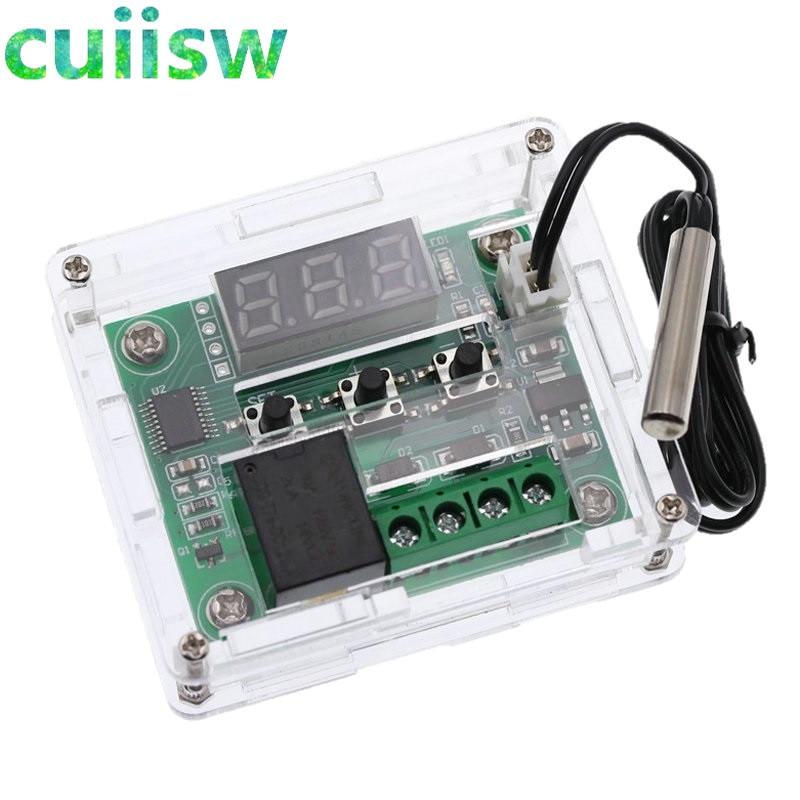 Цифровой терморегулятор W1209 -50-100C DC 12 В, термостат, терморегулятор, термостат, переключатель пластины W1209 чехол