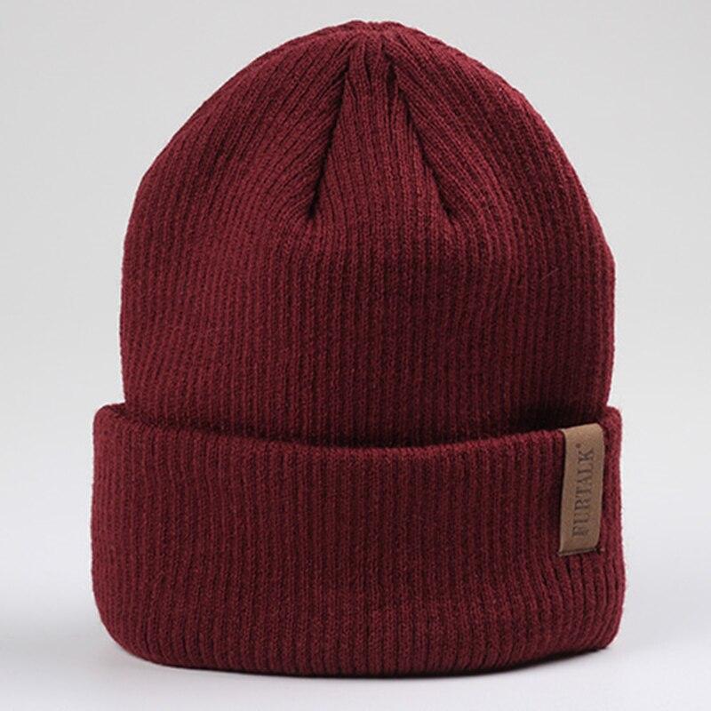 FURTALK Womens Beanie Hat Autumn Women Wool Knit Beanie Hat Cuff Beanie Watch Cap for Girls Spring Skull Hats for Female 2019 1