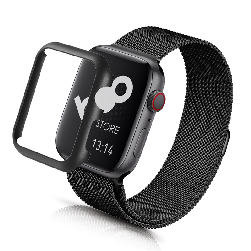 metal Protective Cover for apple watch 5 <font><b>4</b></font> <font><b>3</b></font> <font><b>2</b></font> case iwatch apple watch 44mm 40mm 42mm 38mm stainless steel Anti-Scratch Bumper image