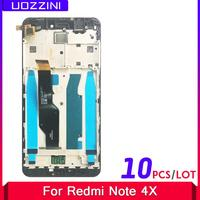 Pantalla LCD táctil con marco para Xiaomi Redmi Note 4X, 10 Uds., 100%