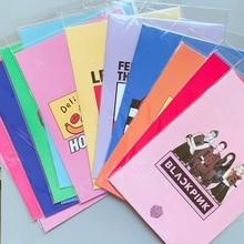 Горячая BLACKPINK GOT7 два раза A4 Папка с файлами канцелярский школьный офисный чехол ПВХ пять стилей подарок для поклонников