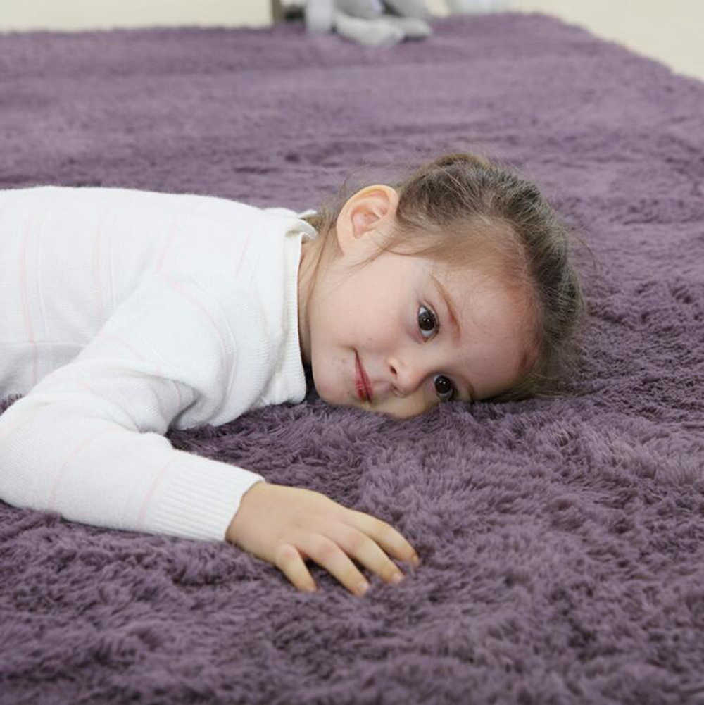 Indoor Area Rugs Living Room Bedroom Rectangle Soft Carpets Modern Shaggy Children Rugs Anti-Slip Backed Home Decorate Rug