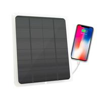 20W 5V Solar Panel Waterproof USB Monocrystalline Solar Panel Outdoor Charger solar cells cell module for Camping Emergency