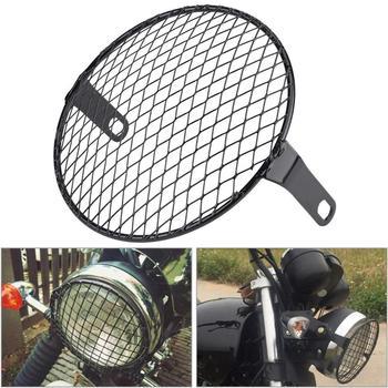 Máscara protectora de malla para faro de motocicleta, cubierta cuadrada de Metal...