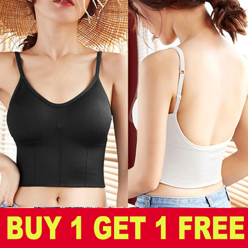 Long Style Women Tank Crop Top Sexy Underwear Female Crop Tops Lingerie Intimates With Padded Camisole Femme Push Up Bralette